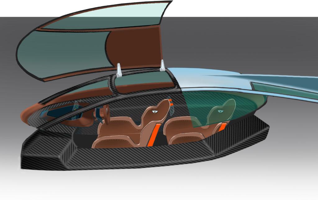 Green4U Panoz EV LM GT cockpit